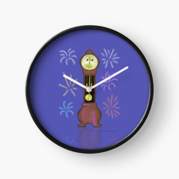 New Year Grandfather Clock Clock