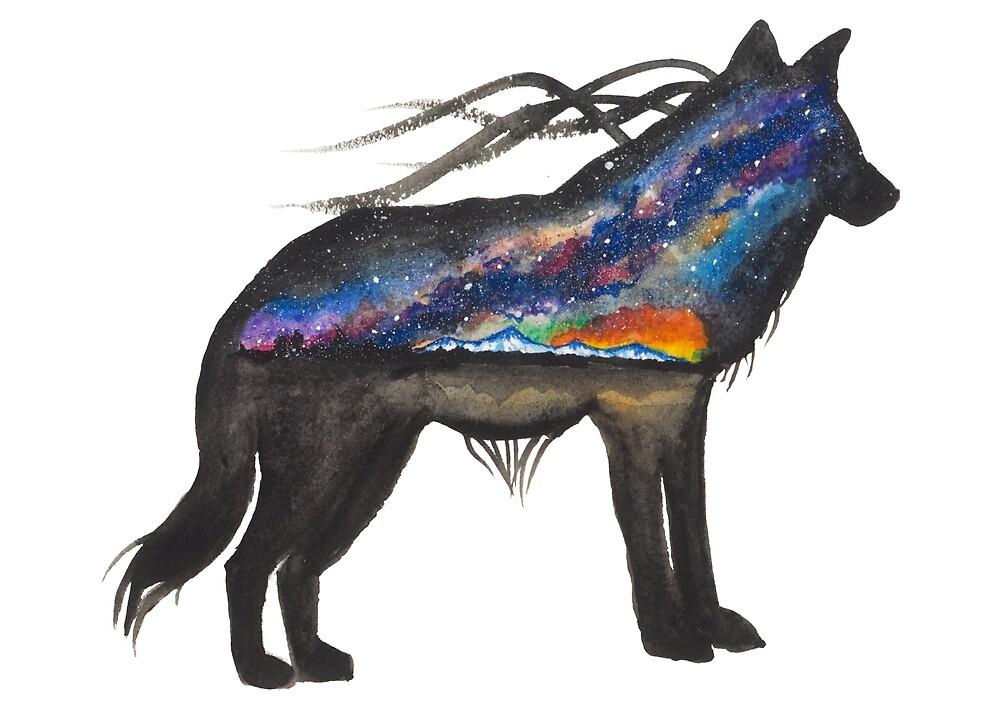Alaskan Sunset Wolf by creaturesofnat