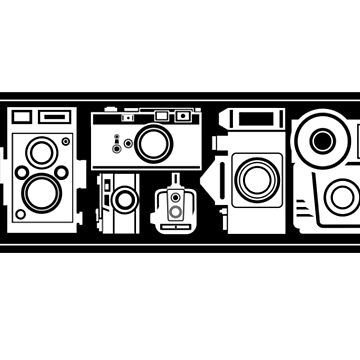 Cameras, Cameras, Camera/Photography Design - For Black Shirts by strayfoto
