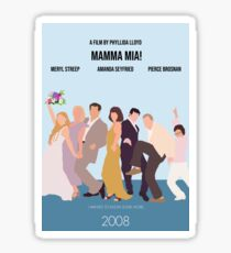 Mamma Mia! Minimal Movie Poster Sticker