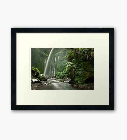 Tiu Kelep waterfall  Framed Print