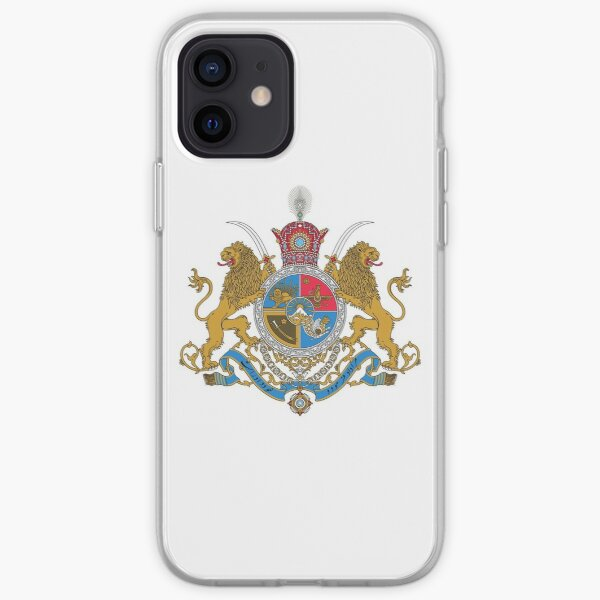 Arms of Iranian Shahs iPhone Soft Case