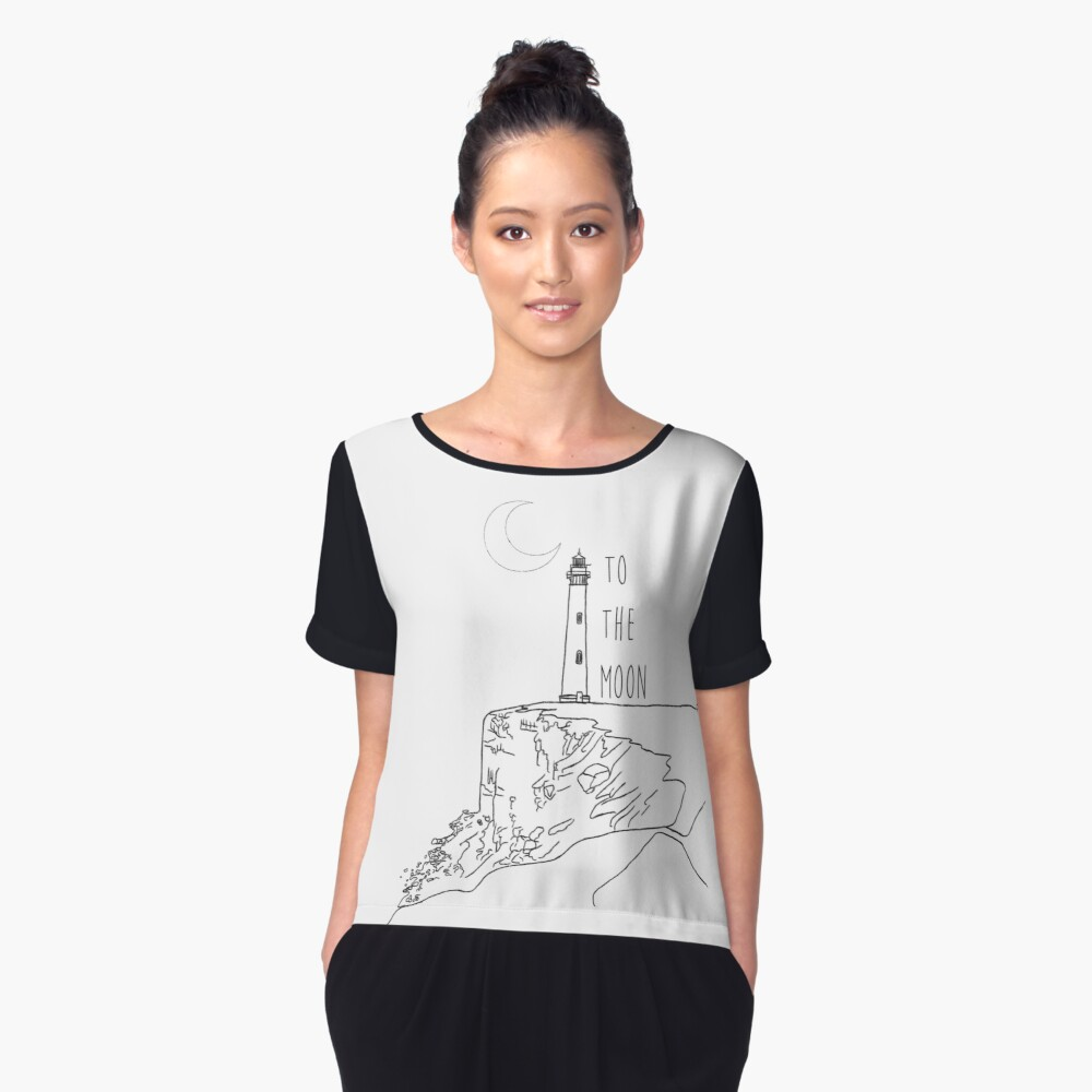To The Moon Lighthouse Women's Chiffon Top Front