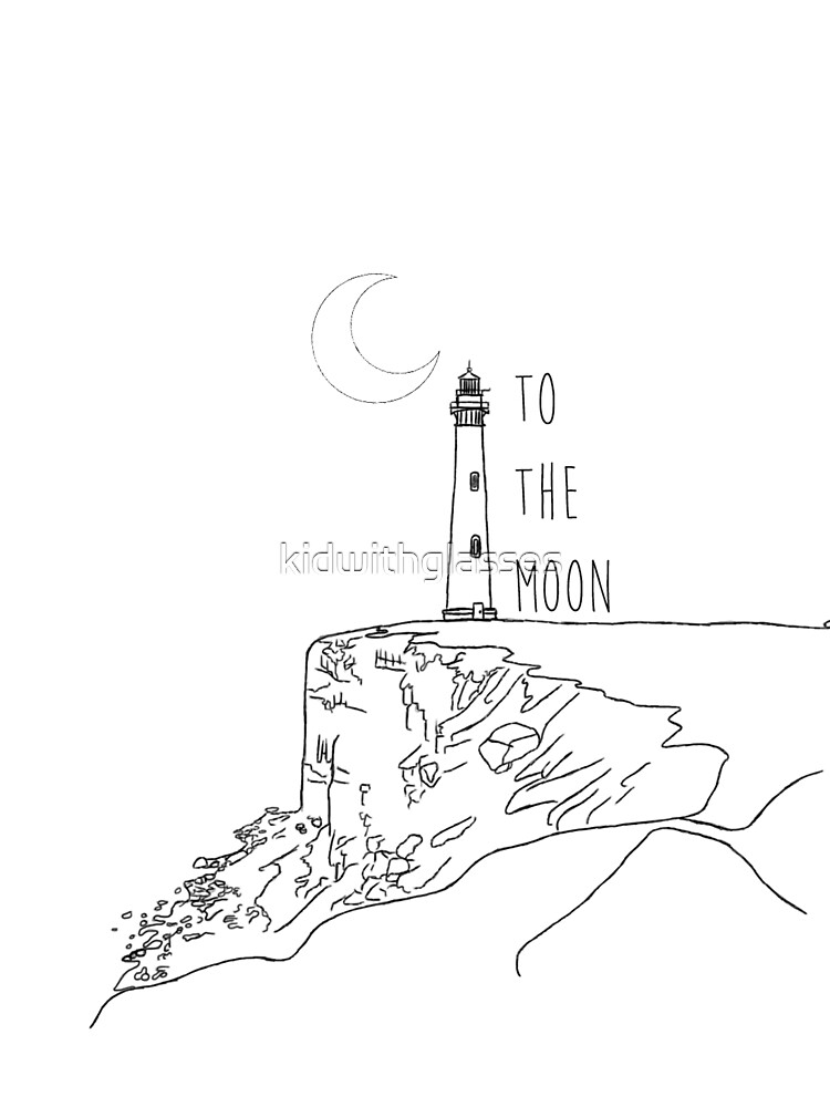 To The Moon Lighthouse by kidwithglasses