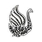 Watercolor Art | Swan by coloringiship