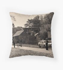 Hillend main street old goldmining town Throw Pillow