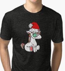 Nettes WeihnachtsEinhorn mit Weihnachtsmütze Vintage T-Shirt