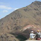 Keeping watch over the Atlas mountains by Christine Oakley