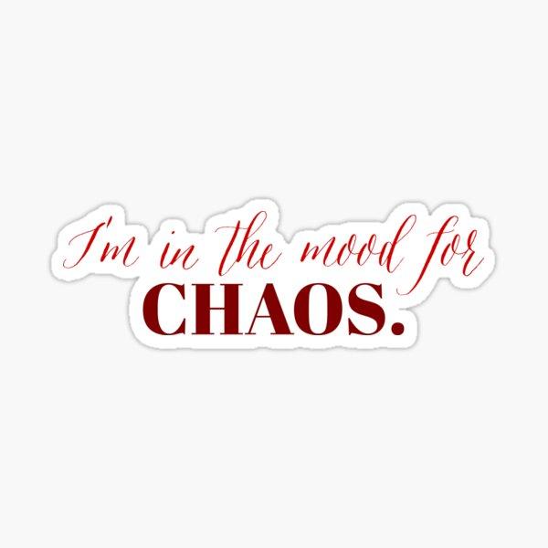 "Cita de Cheryl Blossom del personaje de Riverdale: ""Soy de ánimo para el caos"". Pegatina"