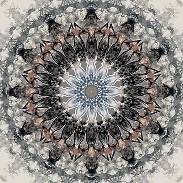 Gray, brown Mandala by marinaklykva