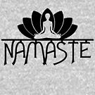 Namaste Yoga Lotus Flower by EthosWear