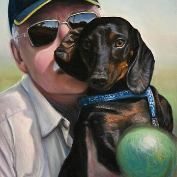 "Self Portrait - ""Dad"" with Dexter by Lefrog"