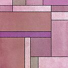 Light Pink and Purple Harmony Abstract Composition by hurmerinta