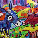 Donkey Blue and Borrie Boar by Dianne Connolly