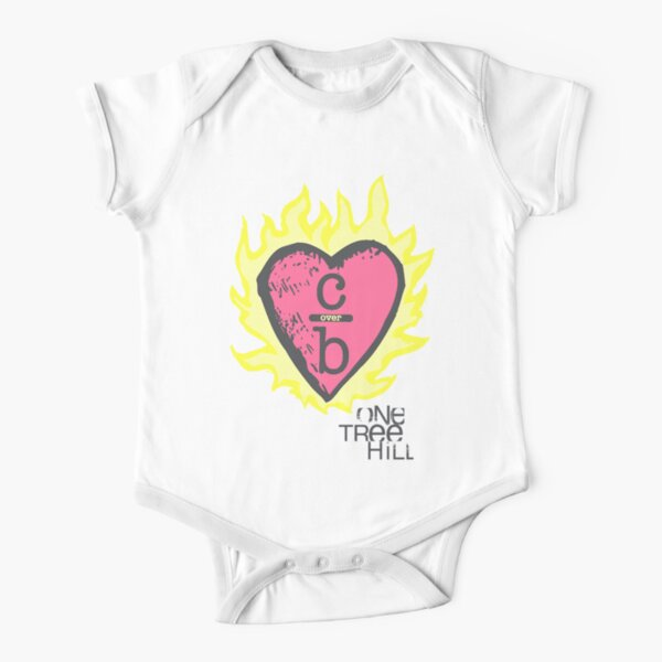 One tree hill- Burning Heart Short Sleeve Baby One-Piece