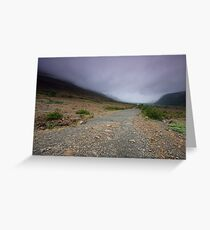 A foggy morning in Gros Morne National Park Greeting Card