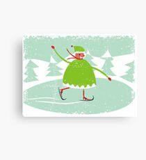 boy skiing Canvas Print
