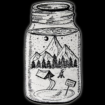Travel More Jar by StilleSkygger