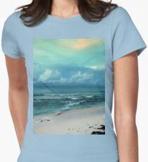 a vast Bahamas landscape Women's Fitted T-Shirt