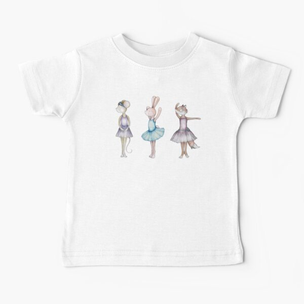 3 Little Ballerinas Baby T-Shirt