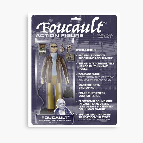 Foucault Action Figure  Canvas Print