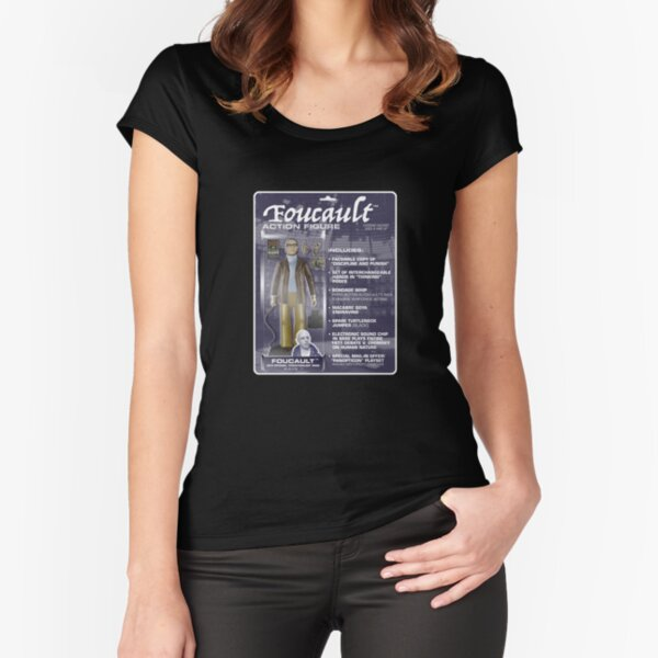 Foucault Action Figure  Fitted Scoop T-Shirt