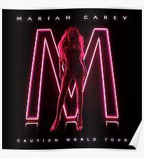 MARIAH CAREY CAUTION WORLD TOUR Poster