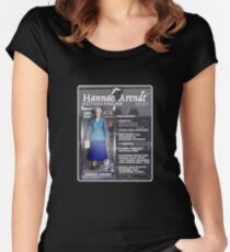 Hannah Arendt Action Figure Fitted Scoop T-Shirt