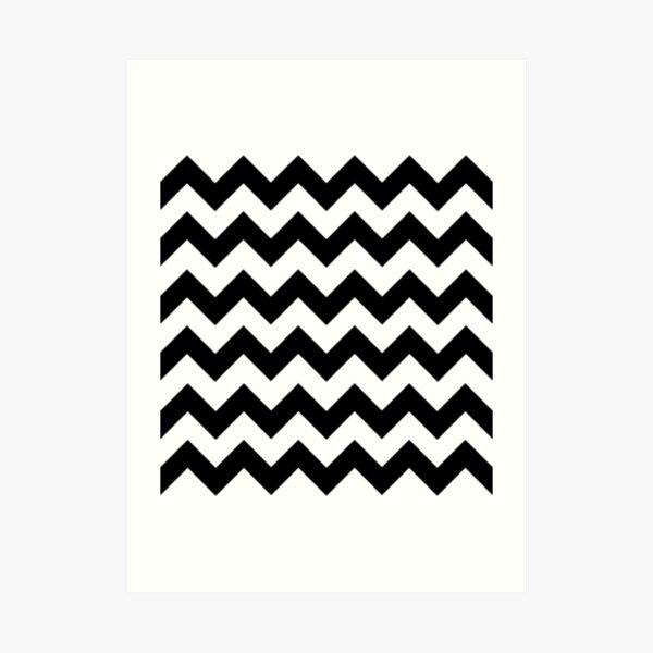 Black and White Chevron Art Print