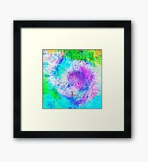 Hidden Look in the Lilac Framed Print