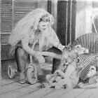 Dress Up - drawing in charcoal  by AvrilThomasart