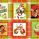 CHRISTMAS KITSCH TARTAN by LizSelleyArt