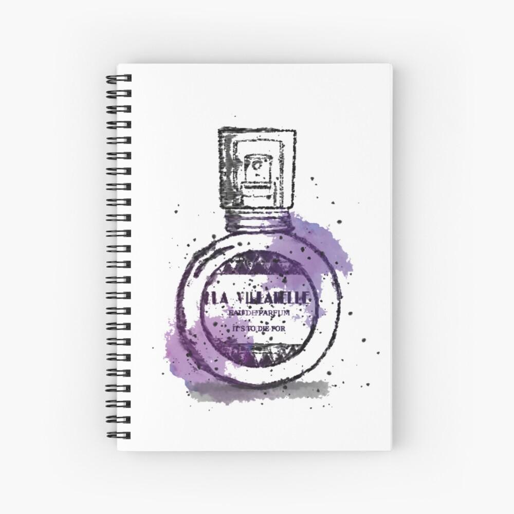 La Villanelle Perfume Watercolour Print Spiral Notebook