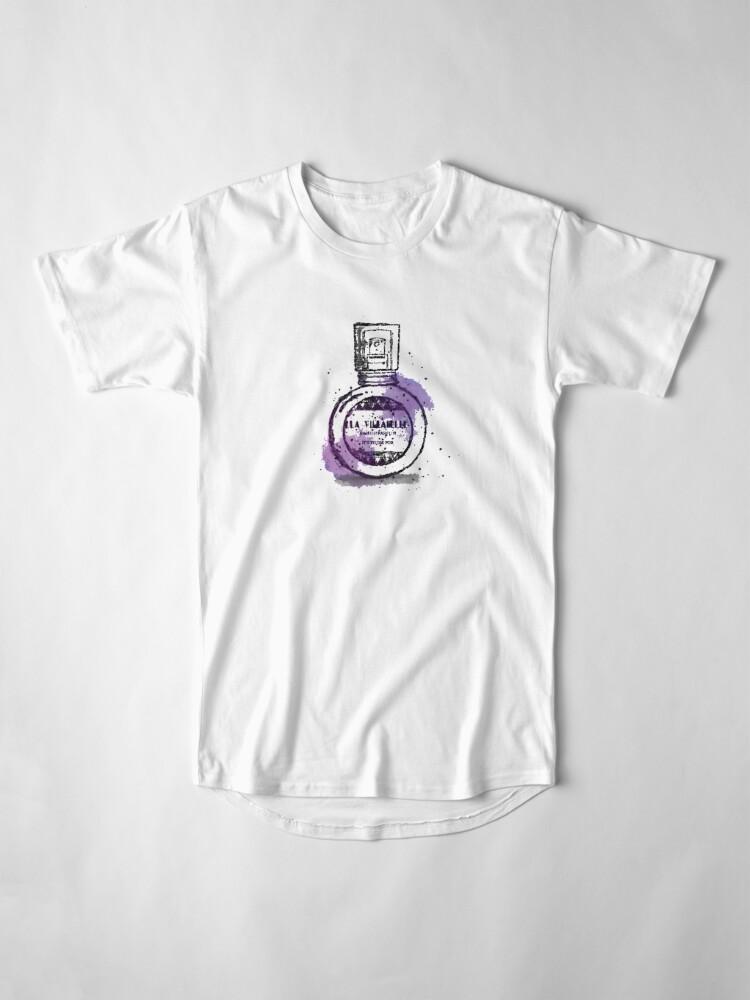 Alternate view of La Villanelle Perfume Watercolour Print Long T-Shirt