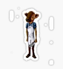 butcher cow -tee Sticker