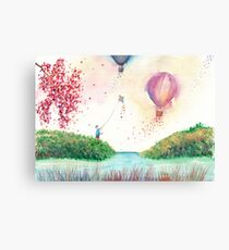 A Happy Day Watercolor Illustration Canvas Print