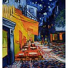 Cafe Terrace At Night by Vincent Van Gogh by sparklehorsette