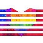USA Heart by carlydraws