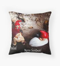 God Jul ~ Merry Christmas ~ Hauskaa Joulua Throw Pillow