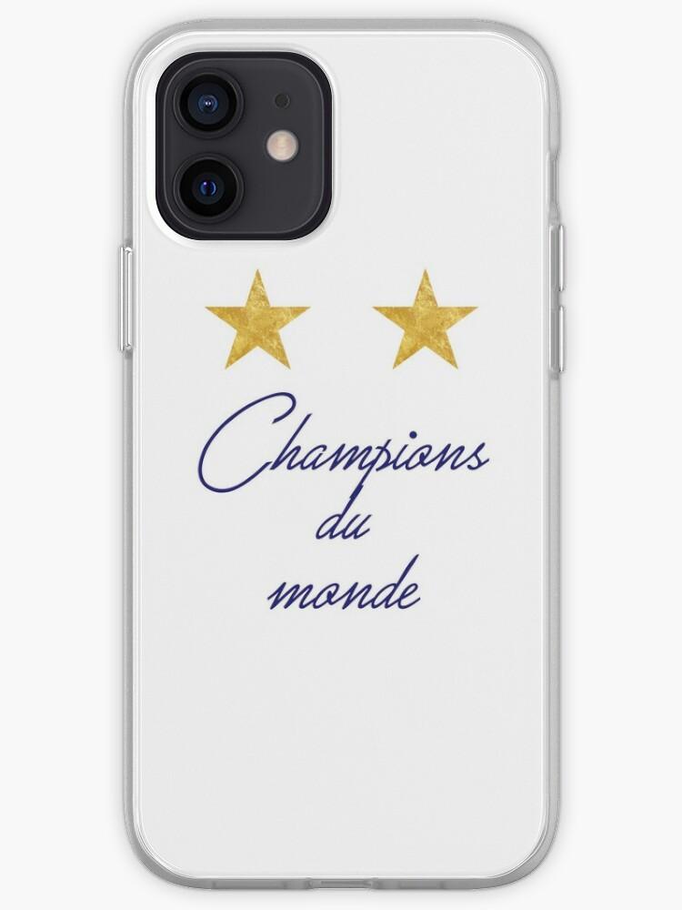 CHAMPIONS DU MONDE 2 ETOILES BLEU | Coque iPhone