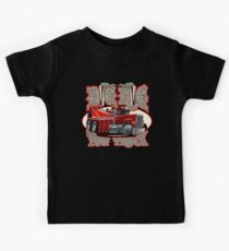 Cartoon big rig tow truck with vintage lettering poster Kids Tee
