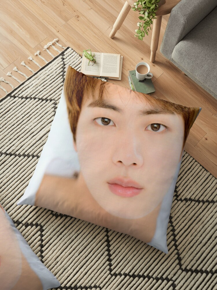 Super Cute And Beautiful Bts Kim Seok Jin Floor Pillow By Kpoptokens Redbubble