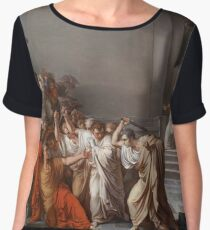 Et tu, Brute? Even you, Brutus? Death of Caesar by Vincenzo Camuccini #DeathofCaesar #Death #Caesar #VincenzoCamuccini #EtTuBrute #EvenYouBrutus Chiffon Top
