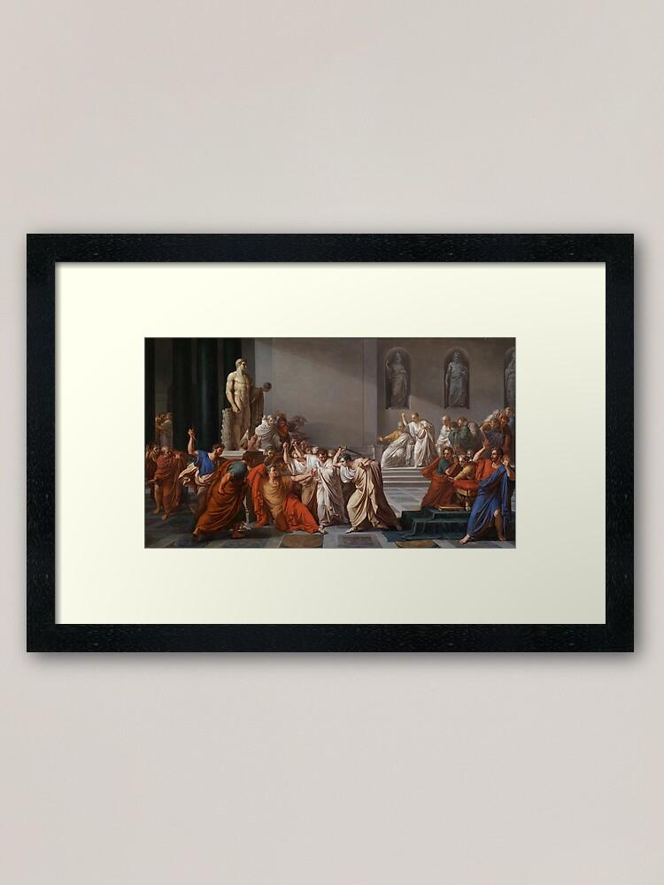 Alternate view of Et tu, Brute? Even you, Brutus? Death of Caesar by Vincenzo Camuccini #DeathofCaesar #Death #Caesar #VincenzoCamuccini #EtTuBrute #EvenYouBrutus Framed Art Print