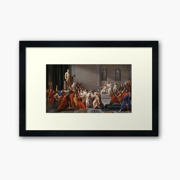 Et tu, Brute? Even you, Brutus? Death of Caesar by Vincenzo Camuccini #DeathofCaesar #Death #Caesar #VincenzoCamuccini #EtTuBrute #EvenYouBrutus Framed Art Print