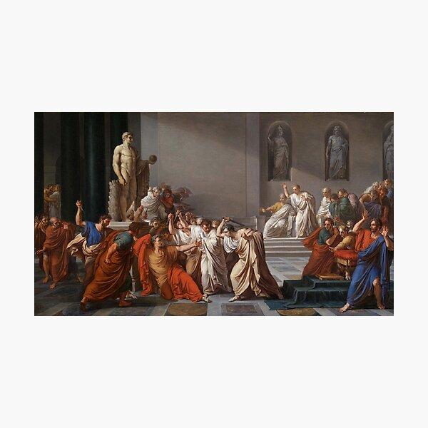 Et tu, Brute? Even you, Brutus? Death of Caesar by Vincenzo Camuccini #DeathofCaesar #Death #Caesar #VincenzoCamuccini #EtTuBrute #EvenYouBrutus Photographic Print