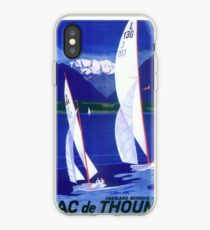 Vintage Sailboats Poster iPhone Case