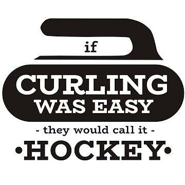 Curling ice curling stones broom tournament gift by design2try