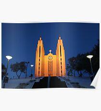 Akureyri Church Poster