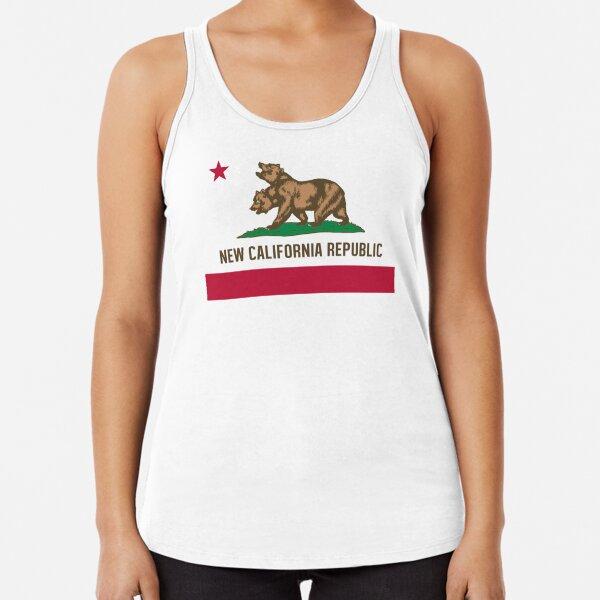 California Republic State Tank Summer Flag Bear Surfing Vintage Cali Tanktop